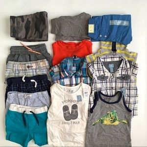 Toddler boy clothes lot new and used pants shorts
